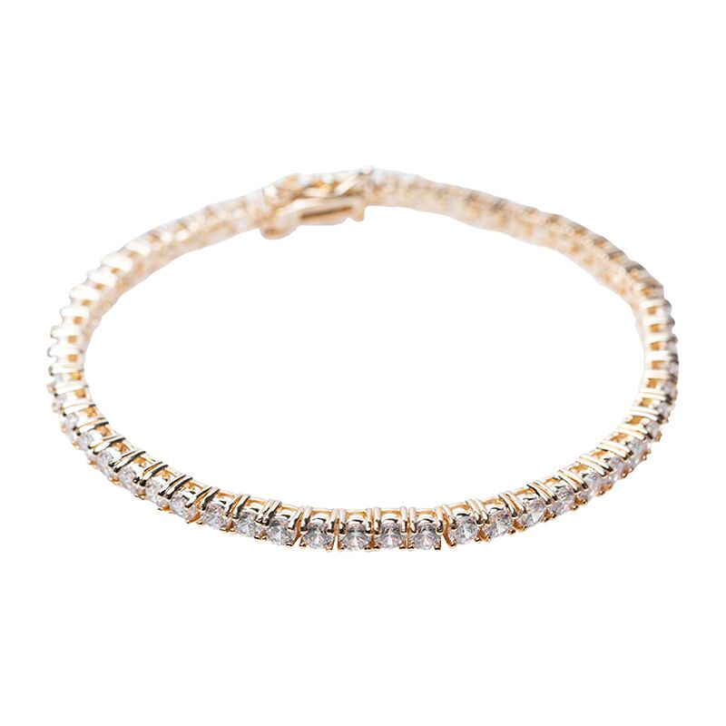 Delicate Yellow Gold Plated Tennis Bracelet