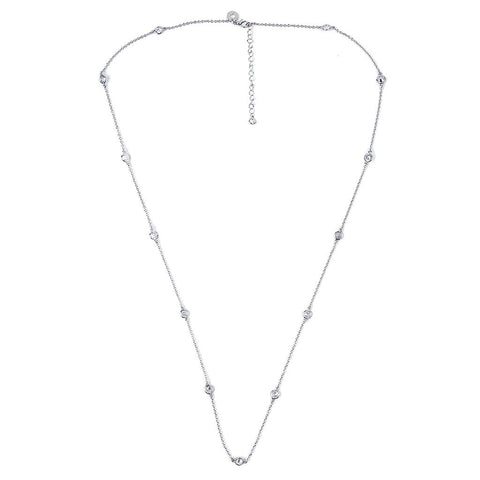 Gray and White Mother of Pearl Necklace