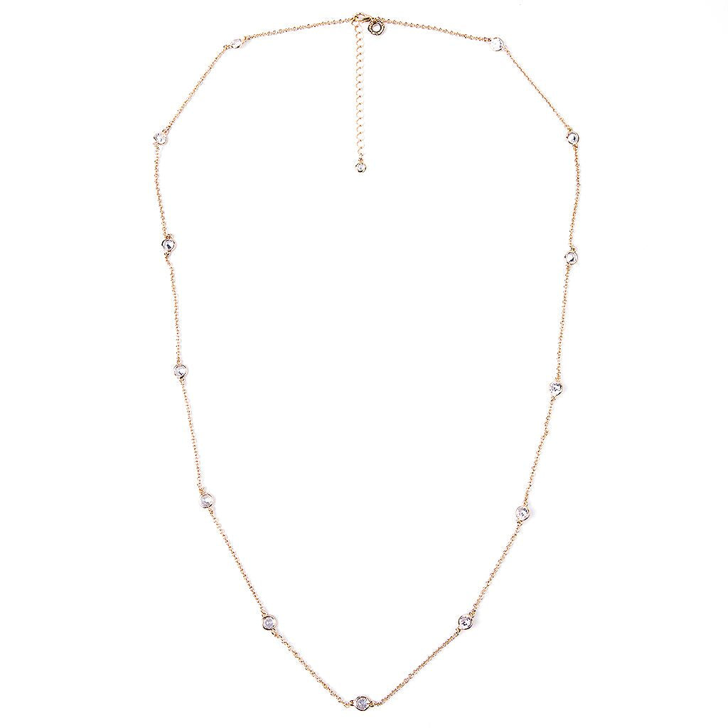 "36"" Yellow Gold Station Necklace"
