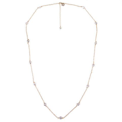 Y Bezel Station Necklace