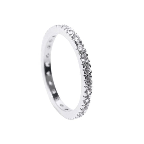 Interlocking Pave Hearts Band