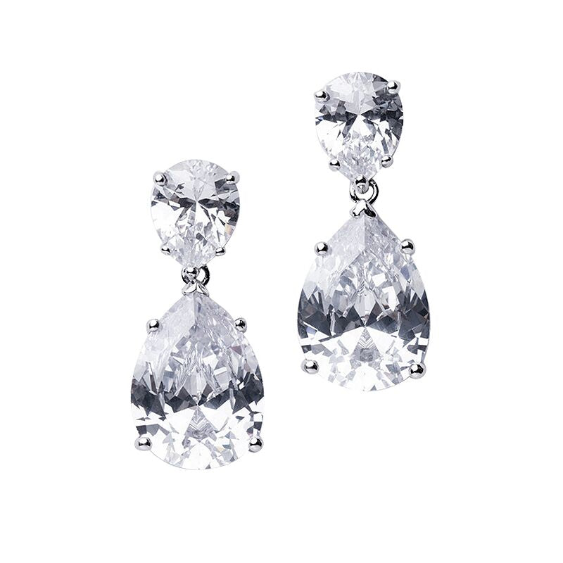 Vogue Italia - Double Pear Drop Earrings