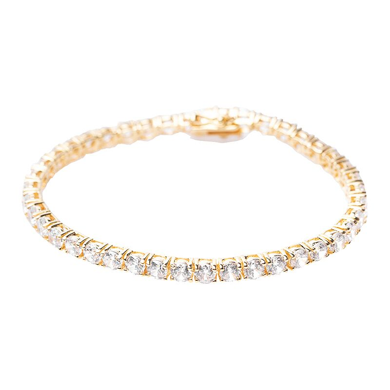 Classic Yellow Gold Plated Tennis Bracelet