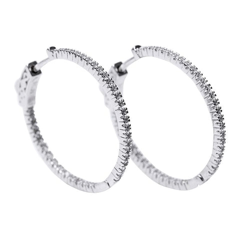 Round Cluster Hoop Earrings