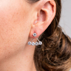 Stud with Curved Row Ear Jackets