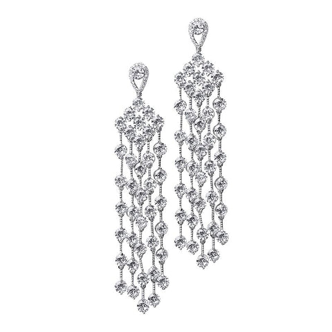 Marquis Cluster Chandelier Earrings