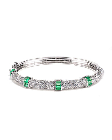 Emerald Invisible Set Bangle