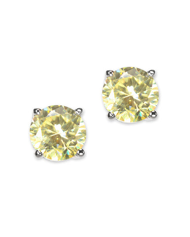 Canary Yellow Luxe Round Stud