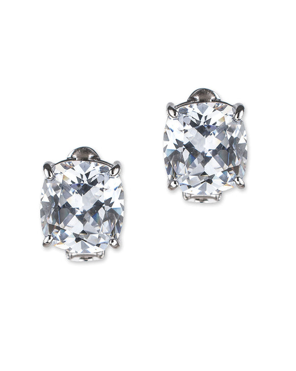 Cushion Cut Clip Earring
