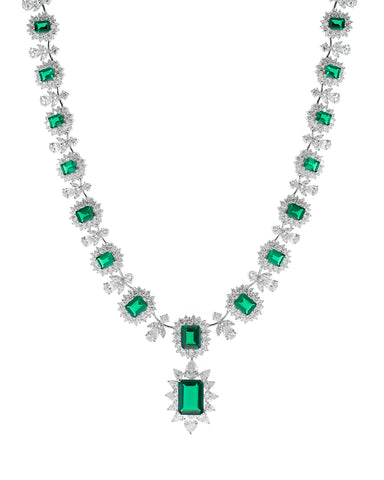 Emerald La Liz Statement Necklace
