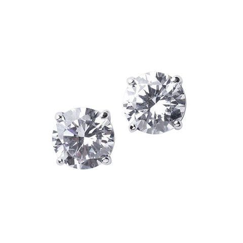 Classic Pave Round Earrings
