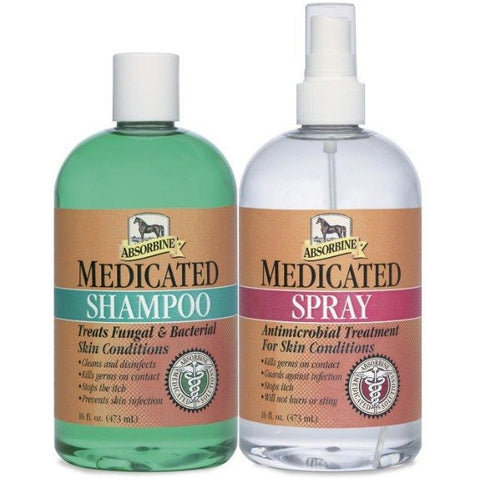 Absorbine Medicated Shampoo & Spray - Twin Pack