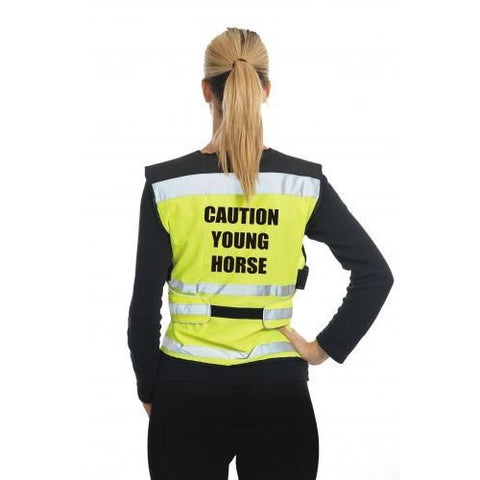 Equisafety Air Waistcoat Caution Young Horse