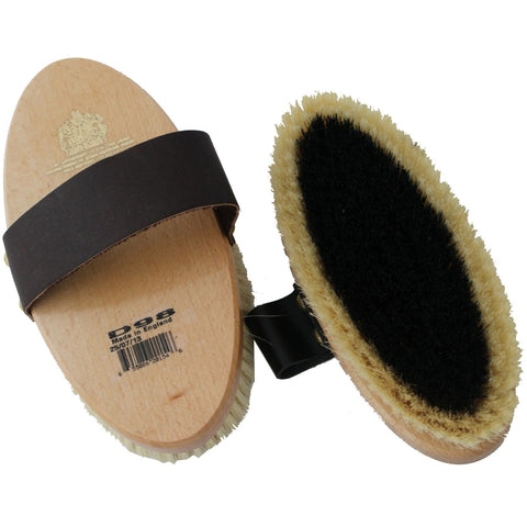 Equerry Body Brush Large Leather Strap