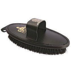 Equerry Body Brush Leather Natural Bristle