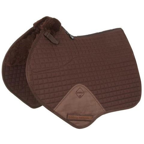 4Equine.com - LeMieux Lambskin Close Contact Jumping Square Half Lined