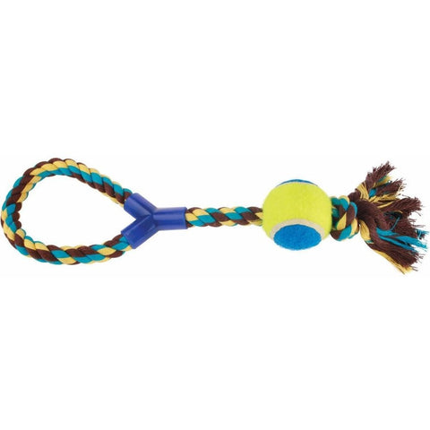 The Companion Rope With Tennis Ball from Companion, available at 4Equine.com