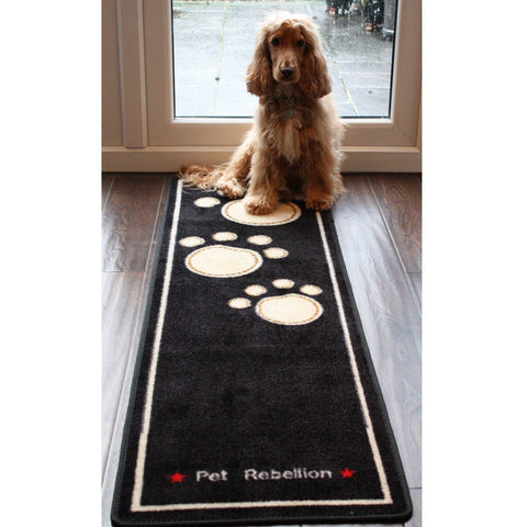 The Pet Rebellion Stop Muddy Paws X-Long Dog Runner from Pet Rebellion, available at 4Equine.com