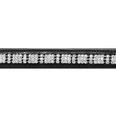 The JHL 3 Row Clear Diamante Browband from JHL, available at 4Equine.com