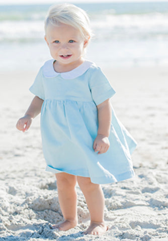 Blue Linen Beach Dress