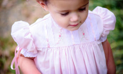 Pink Hand Embroidered Heirloom Yoke Dress