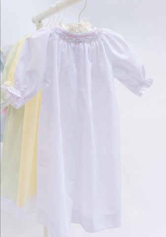 Do Say Give  Girls Hand Smocked Bishop Daygown