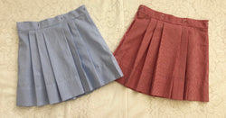 Red or Blue Gingham Girls Skirt Or Bloomers