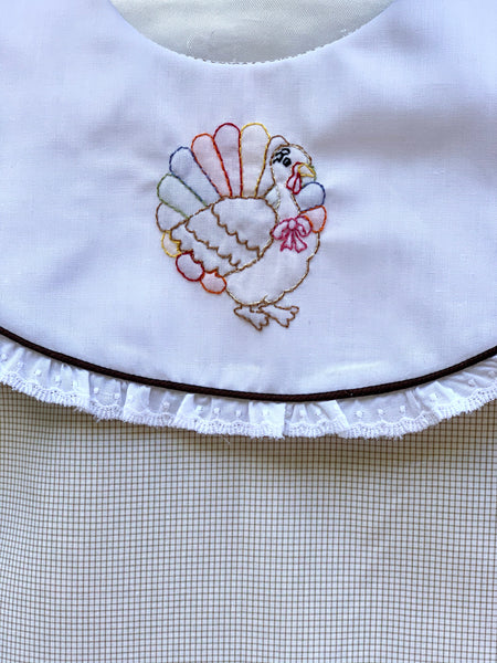 Hand Shadow Embroidered Turkey Dress