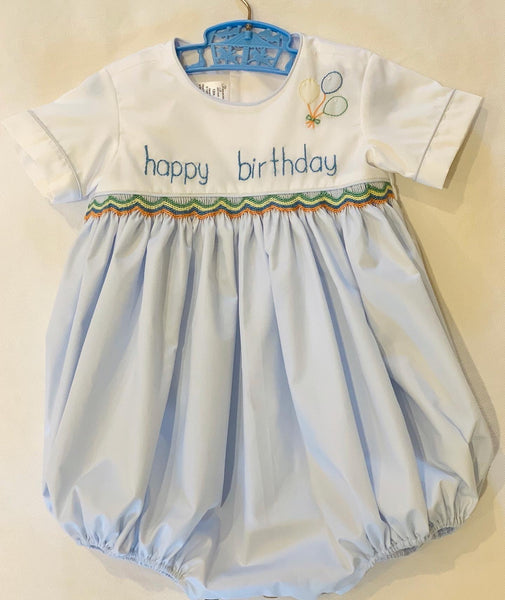 🎈  Boys Happy Birthday Bubble and Bloomer Set 🎈