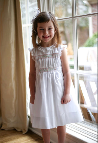 Heirloom Hand Smocked Springtime Party Dress
