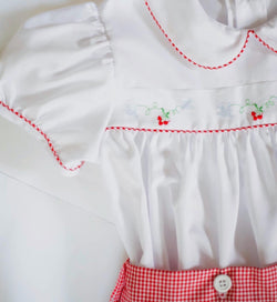 Girls Christmas Insertion Skirt/Bloomer Sets