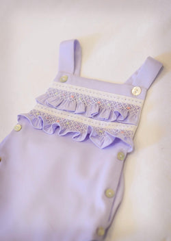 Lavender Hand Smocked Sunsuit