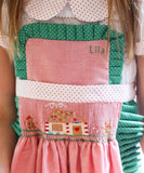 Hand Smocked/Embroidered Christmas Apron