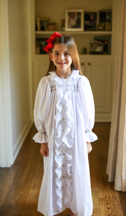 Long Sleeve Hand Smocked/Embroidered Loungewear