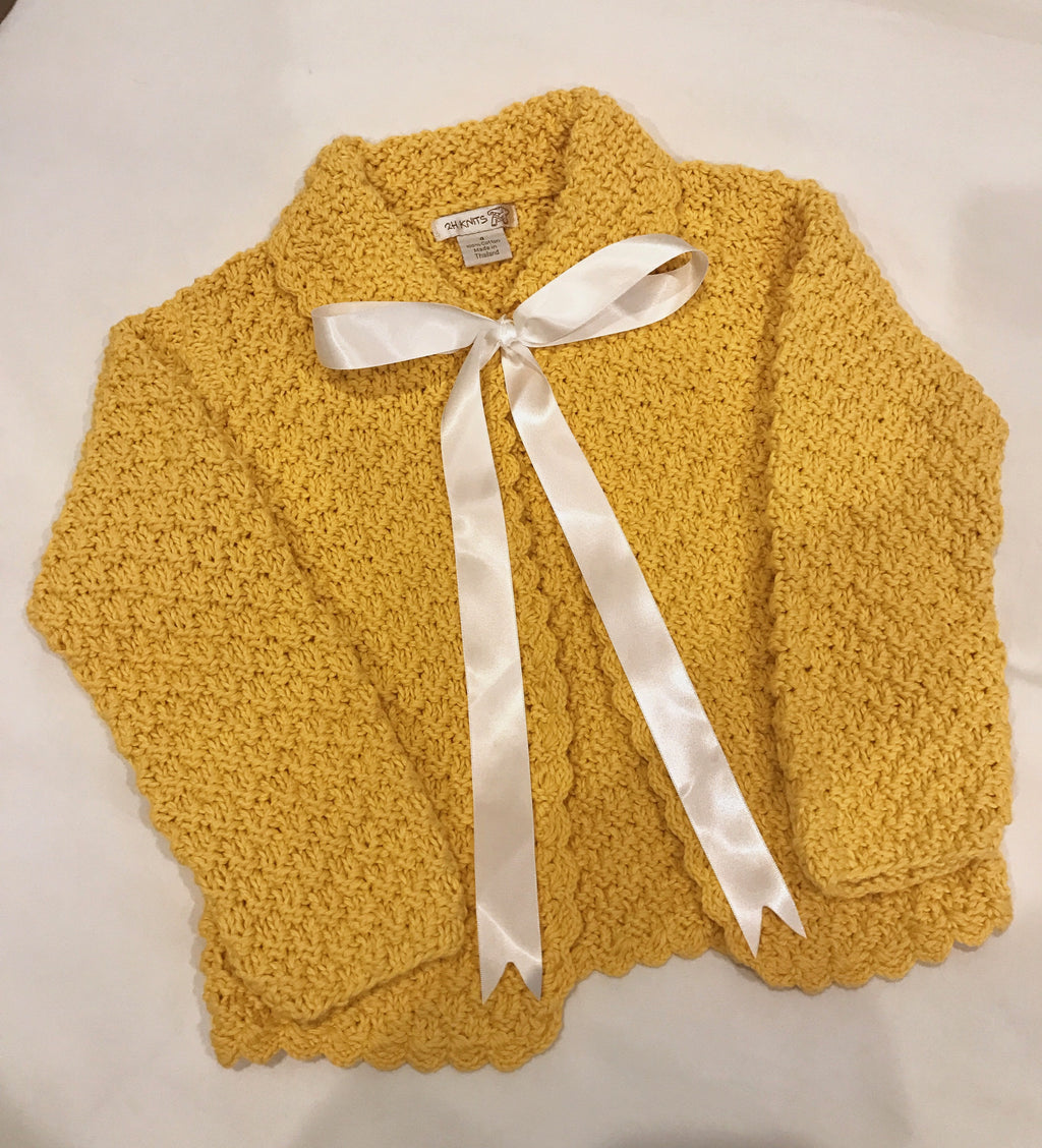 Hand Knit Sweaters With Satin Ribbon Frances Rose Boutique