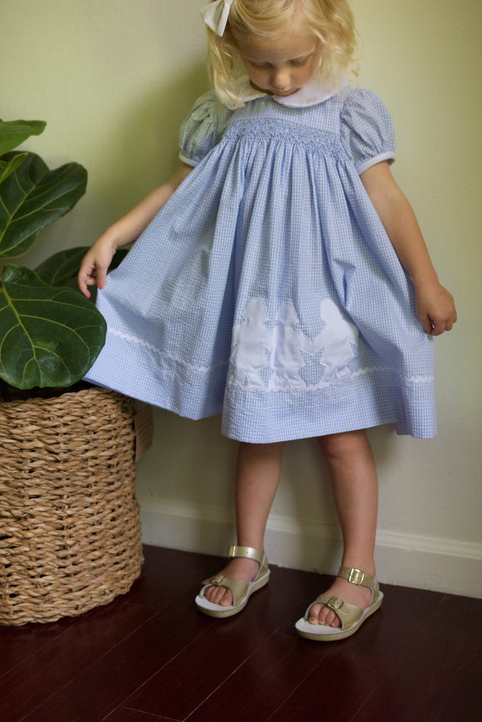 Hand Smocked Paper Doll Dress