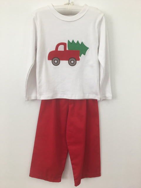Boys Cotton Christmas Truck Pants Set