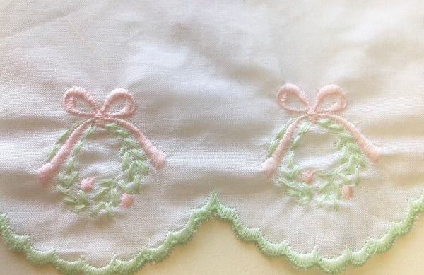 Frances Rose Exclusive Swiss Embroidered Wreath Trim