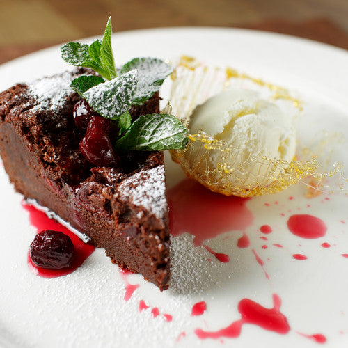 High Protein Brownie 'Cake' with Coconut Ice Cream