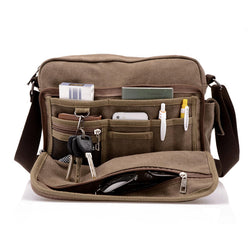 HQ Canvas Crossbody Travel Bag