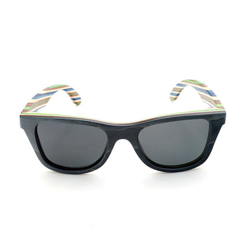 Brown & Blue Candystripe Sunglasses