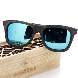 BerWer | Natural Dark-Toned Bamboo Sunglasses