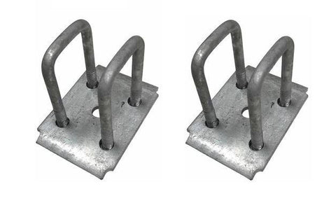 "Galvanized Tie Plate Kit for 2"" Square Trailer Axle"