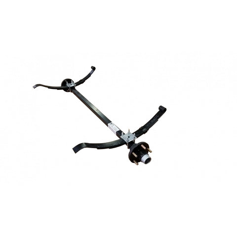Single Black PWC Trailer Axle w/ Hubs and Springs
