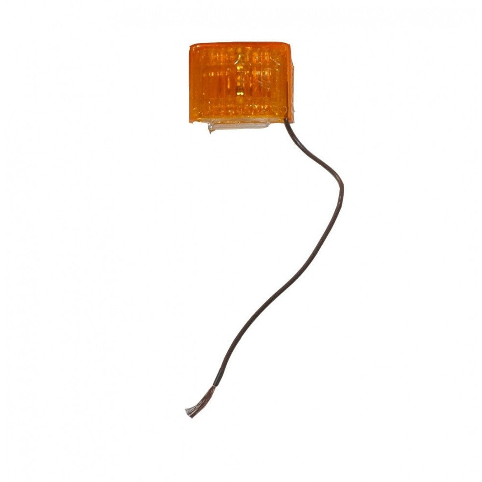 "Dry Launch Amber Side Marker Light w/ 10"" of Wire"