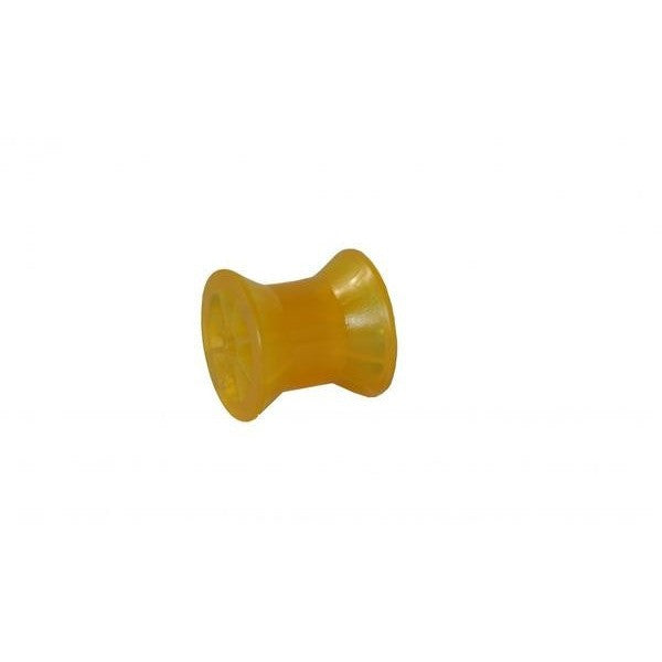 3″ Amber Poly Bow Roller