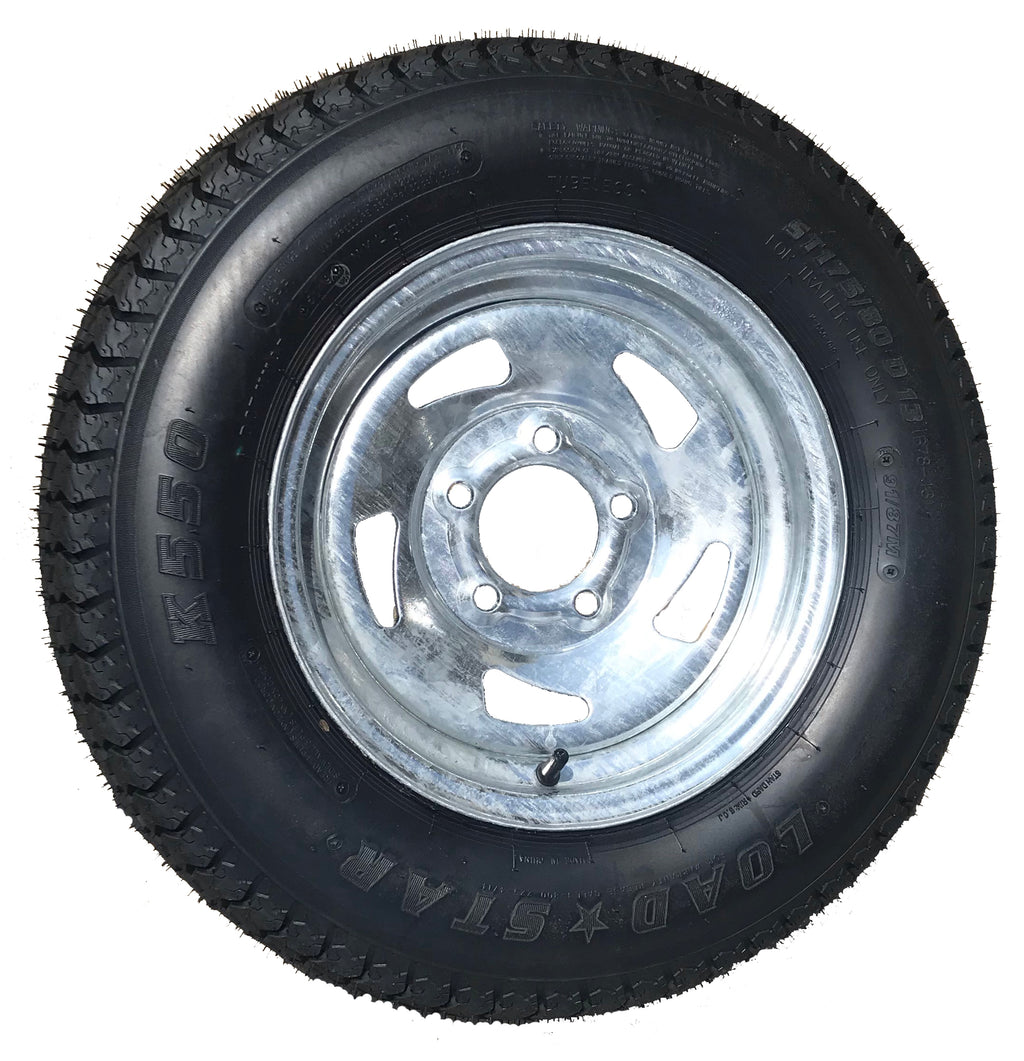 13″ Galvanized Tire & Wheel ST175/80D13 C Load Range