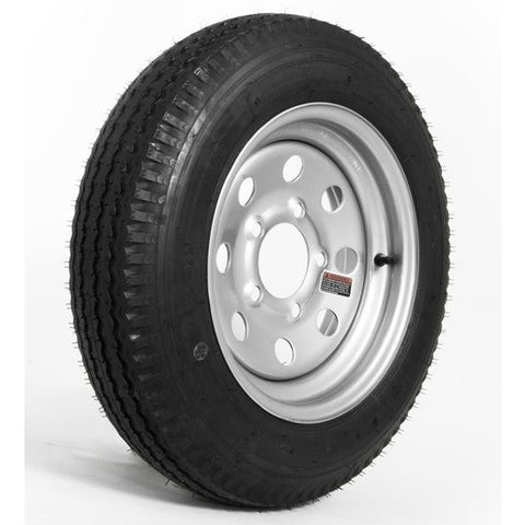 4.80 x 12″ C Load Range Silver E-Coat Tire & Wheel