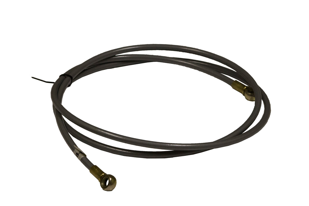 64″ Grey Flex Hose Banjo-Banjo Brake Line