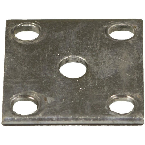 "Galvanized Axle Tie Plate for 1.5"" Square Trailer Axle"